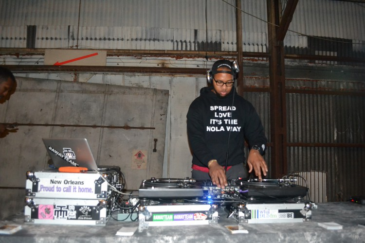 DJ RQ Away provided the tunes at the Studio BE grand opening